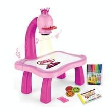 Smart Children Projectie Painting Board Multifunctionele Tekentafel Speelgoed Set (Roze)