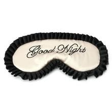 Comfortabele imitatie zijde satijn gepersonaliseerde reizen slaap masker oog dekking (beige)