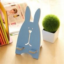 4 STKS cartoon konijn cCandy kleur houten telefoon houder (blauw)