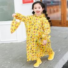 Children Regenjas met schooltas stoel en Poncho regenkleding  maat: L (geel)