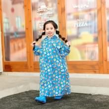 Children Regenjas met schooltas stoel en Poncho regenkleding  maat:XL (Blauw)