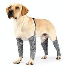 Hond Outdoor viervoeter huisdier waterdicht & vuil-proof sling beenhoes  grootte: M(grijs)