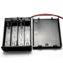10 stuks AA grootte macht batterij opbergdoos houder voor 4 x AA batterijen met cover & schakelaar