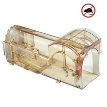 Korte kooi plastic muizenval humane kooi voor het vangen van muizen levend (bruin)