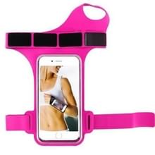 Running Sports Mobile Phone Wrist Bag  Specificatie:Onder 5 5 inch (Rose Red)