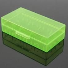 5 STKS batterij opslag Case plastic doos voor 2 x 18650/4 x 16340 batterijen (groen)