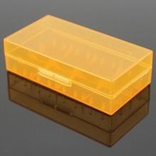 5 STKS batterij opbergtas plastic doos voor 2 x 18650/4 x 16340 batterijen (oranje)