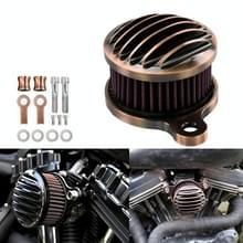 Motorcycle Air Filter CNC Aluminium Retro Air Filter Voor Harley XL883 / 1200 / X48 2004-2014 (Brons)