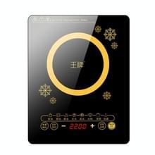 WP Huishouden Kleine Energiebesparende Hot Pot Inductie Fornuis Elektrische Countertop Stove  CN Stekkers (Snowflake Gold)