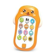 Mini Baby Cartoon Intelligent Early Education Simulation Mobile Phone Toy (Geel)