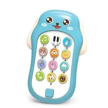 Mini Baby Cartoon Intelligent Early Education Simulation Mobile Phone Toy (Blauw)