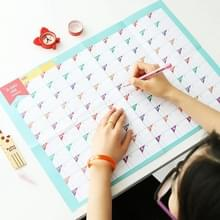 10 stuks 100 dagen Countdown kalender leren schema periodieke planner tabel gift voor jonge geitjes