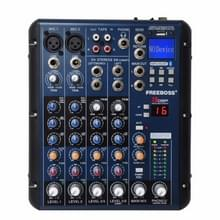 SMR6 Bluetooth USB-record 2 mono + 2 stereo 6 kanalen 3 band EQ 16 DSP effect USB professionele audio mixer