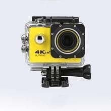 WIFI waterdichte actie camera fietsen 4K camera ultra duiken 60PFS kamera helm fiets cam Onderwatersport 1080P camera (geel)