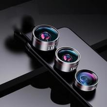 Groothoek + Macro + Fisheye mobiele telefoon lens professionele schieten externe HD camera set