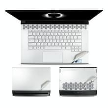 JRC 3 in 1 laptop film set body shell bescherming sticker voor Dell ALIENWARE M15-R2 (wit)