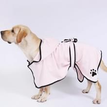 Hond water absorberen handdoek kat badhanddoek badjassen huisdier benodigdheden M (roze)