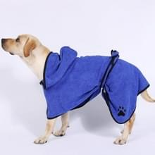 Hond water absorberen handdoek kat badhanddoek badjassen huisdier benodigdheden L (blauw)