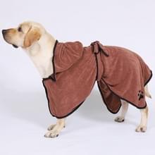 Hond water absorberen handdoek kat badhanddoek badjassen huisdier levert L (bruin)
