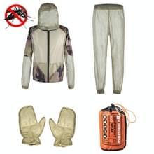 Camping Avontuur Anti-Mosquito Bite Suit Zomer Outdoor Vissen Ademend Mesh Anti-Mosquito Pak  Specificatie: Driedelige Full Set(s / M)
