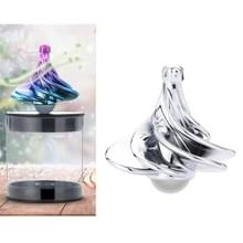 Air Aerodynamic Wind Gyroscoop Blown Spin Silent Stress Relief Toys WinSpin Wind Fidget Spinner (Zilver)