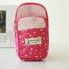 Polka Dot Kleine Bloem doek Sport Running Double Arm Bag  Color:Medium Pink