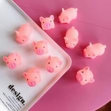 10 stuks silica gel kawaii varken model squeeze Toy stress reducer