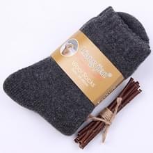 Mannen vrouwen verdikken thermische wol kasjmier winter middelste buis warme sokken (Deep Grey voor mannen)
