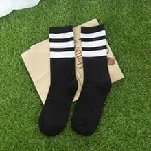 20 paren vrouwen katoen hiphop Skate lange sokken vrouwen katoen casual sokken (zwart wit)