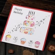 5 PC'S creatieve knipsel mooie verjaardag wenskaart (verjaardagstaart)