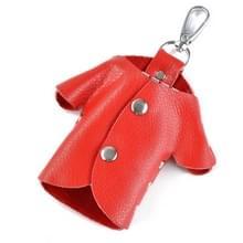 Auto Key Wallet Houder Echte Lederen Unisex Key Organizer Bag (Rood)