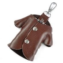 Auto Key Wallet Houder Echte Lederen Unisex Key Organizer Bag (Koffie)