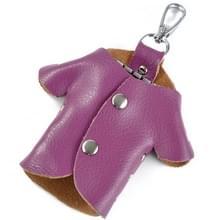 Auto Key Wallet Houder Echte Lederen Unisex Key Organizer Bag (Paars)