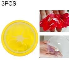 3Pcs/set Kinder puzzel fruit Crystal modder transparante fruit klei (Hami meloen)