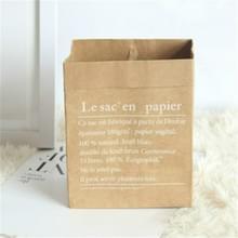 Kraft Paper Bag gift bags voor kunstgedroogde bloemen vaas huis decoraties  grootte: 30x13x50cm (Hele gele Frans)