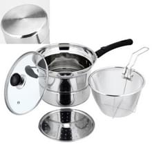 Stainless Steel 22CM Multi-functie Gefrituurde Cooking Pot Keukengerei Set  Style: Double Bottom