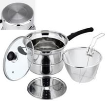 Stainless Steel 22CM Multi-functie Gefrituurde Keukengerei Set  Style: Single Bottom