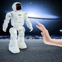 Dacing mode RC robot motion control programmeerbare acties gezichts licht klinkt speelgoed slimme robot (wit)