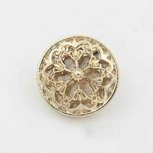 Gold 100 PCS Hollow Flower Shape Metal Button Kleding accessoires  diameter:25mm