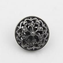 Zwarte 100 PCS Hollow Flower Shape Metal Button Kleding accessoires  diameter:20mm