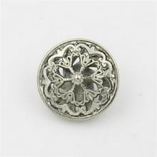 Silver 100 PCS Hollow Flower Shape Metal Button Kleding accessoires  diameter:20mm