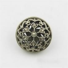 Thee Gold 100 PCS Hollow Flower Shape Metal Button Kleding Accessoires  Diameter:18mm