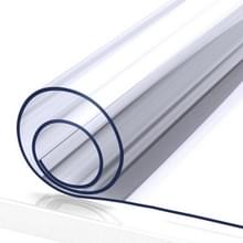 Waterdichte olie dichte PVC placemat zachte glazen tafelkleed thee placemat  specificatie: 90x90cm (transparant 1mm)