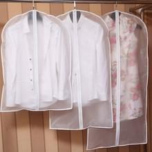 2 PC'S transparante garderobe opslag zakken doek opknoping kledingstuk pak vacht stofhoes met rits  specificatie: 45cmx60cm
