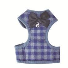 Verstelbare Bow Plaid vest lead pull touw leiband voor kat hond huisdier (L)