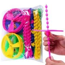 40 PCS bamboe Dragonfly spinnen vliegwiel kinderen vliegen speelgoed  willekeurige kleur levering