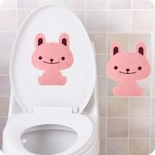 10 PCS Cartoon Animal Badkamer verdikt Vilt Toilet Deodorant Stickers (Konijn)