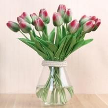 10 stuks simulatie PU mini Tulip kunstmatige bloemen zijde bloemen bruiloft Home nep bloemen (groen)