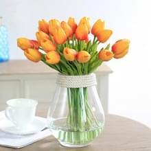 10 stuks simulatie PU mini Tulip kunstmatige bloemen zijde bloemen bruiloft Home nep bloemen (oranje)