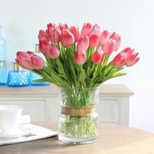 10 stuks simulatie PU mini Tulip kunstmatige bloemen zijde bloemen bruiloft Home nep bloemen (lichtroze)